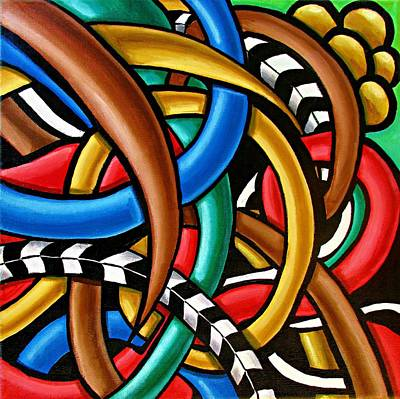 Colorful Abstract Art Painting Chromatic Intuitive Energy Art - Ai P. Nilson Poster