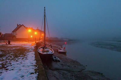 Poster featuring the photograph Misty Rowhedge Winter Dusk by Gary Eason