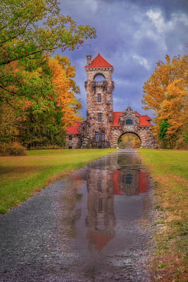 Poster featuring the photograph Mohonk Preserve Gatehouse  Ny Fall  by Susan Candelario