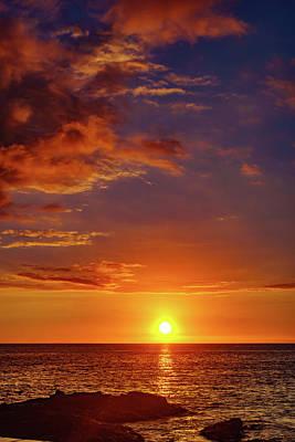 Monday Sunset Poster