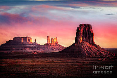Poster featuring the photograph Monument Valley Sunrise by Scott Kemper