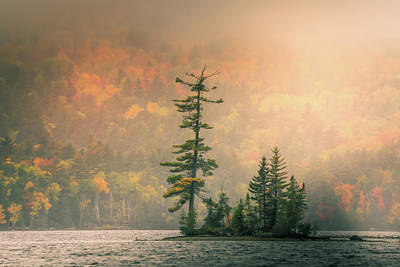 Poster featuring the photograph Moody Autumn Morning On Moosehead Lake by Dan Sproul