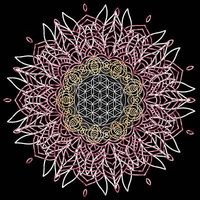 Poster featuring the digital art Moon Mandala by Bee-Bee Deigner