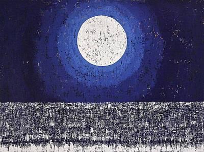 Moonbathing Original Painting Poster