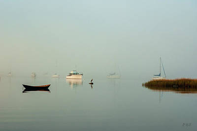 Poster featuring the photograph Morning Mist Bristol Harbor II by David Gordon
