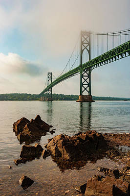 Poster featuring the photograph Mount Hope Bridge IIi Color by David Gordon