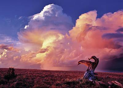 Mountain Thunder Shower Poster