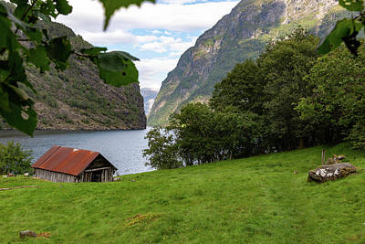 Poster featuring the photograph Naeroyfjord, Norway by Andreas Levi