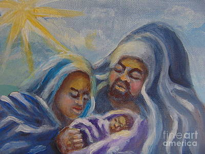 Poster featuring the painting Nativity by Saundra Johnson