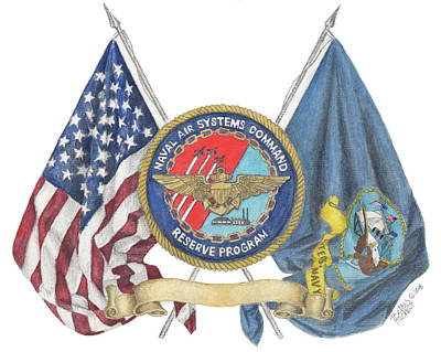 Poster featuring the painting Naval Air Systems Command Reserve Program by Betsy Hackett