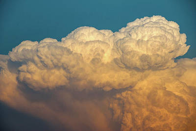 Poster featuring the photograph Nebraska Sunset Thunderheads 053 by NebraskaSC