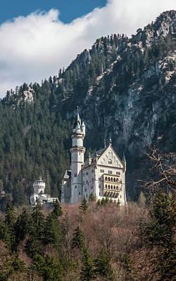 Neuschwanstein Castle On The Hill 2 Poster
