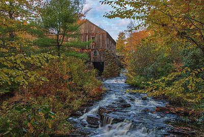 Poster featuring the photograph New England Fall Foliage At Moore State Park by Juergen Roth