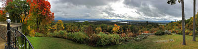 Poster featuring the photograph New England Fall Panoramic - Castle In The Clouds by Joann Vitali