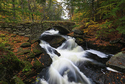 Poster featuring the photograph New Hampshire Gleason Falls by Juergen Roth