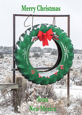 Poster featuring the photograph New Mexico Christmas Card by Britt Runyon