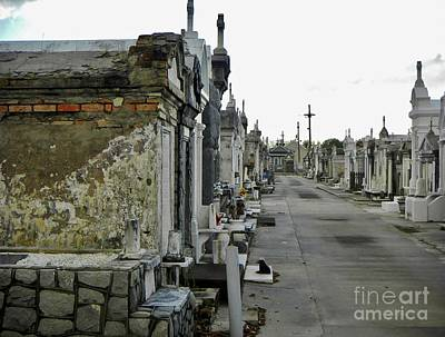 Poster featuring the photograph New Orleans Cemetery by Rosanne Licciardi