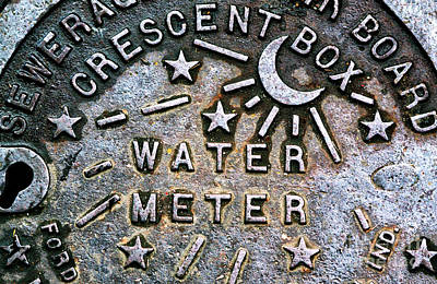 New Orleans Water Meter Cover Poster
