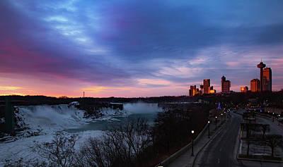 Niagara Falls At Sunrise Poster