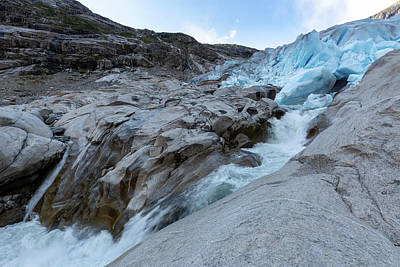 Poster featuring the photograph Nigardsbreen, Norway by Andreas Levi