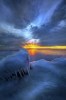 Poster featuring the photograph No Winter Skips Its Turn. by Phil Koch