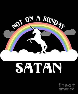 Not On A Sunday Satan Poster
