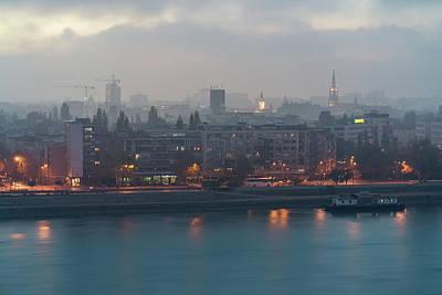 Novi Sad Night Cityscape Poster