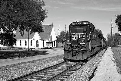 Poster featuring the photograph Ns Ge Dash 9-40 B W 1 by Joseph C Hinson Photography