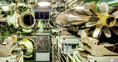 Nuclear Submarine Torpedo Room Poster