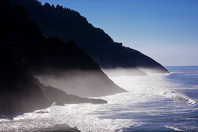 Poster featuring the photograph Ocean Beach Siuslaw National Forest Oregon by Rospotte Photography