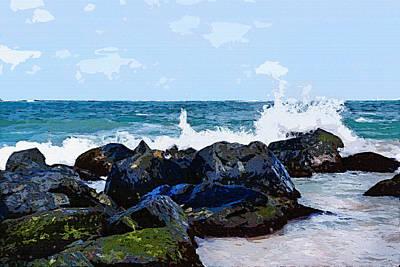 Ocean Meets The Coast Poster