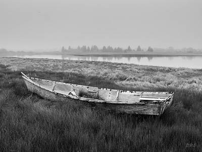 Old Boat In Tidal Marsh Poster