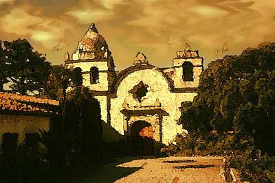 Old Carmel Mission - Watercolor Painting Poster