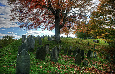 Old Hill Burying Ground In Autumn Poster