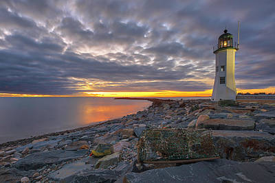 Poster featuring the photograph Old Scituate Light by Juergen Roth