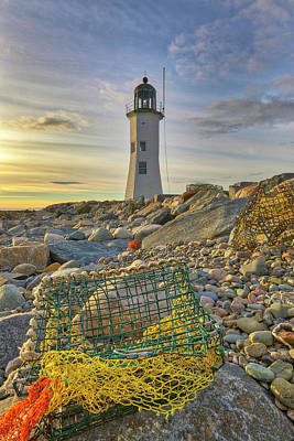 Poster featuring the photograph Old Scituate Lighthouse by Juergen Roth