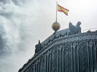 On Top Of The Puerta De Atocha Railway Station Poster