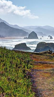 Poster featuring the photograph Oregon Coast Formations by Jerry Sodorff