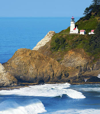 Poster featuring the photograph Oregon Coast Heceta Head Lighthouse 116 by Rospotte Photography