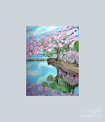 Original Painting. Joy Of Spring. Poster