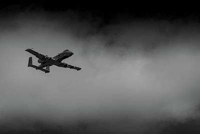 Poster featuring the photograph Out Of The Clouds - A-10c Thunderbolt by Doug Camara