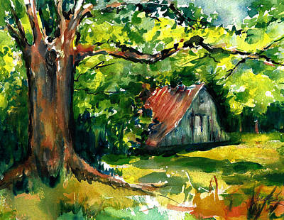Ozarks Barn In Boxley Valley - Late Summer Poster