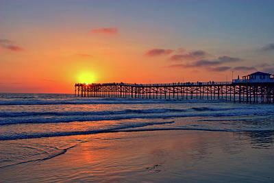 Pacific Beach Pier Sunset Poster