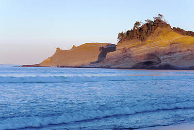 Poster featuring the photograph Pacific City Cape Kiwanda Morning by Rospotte Photography