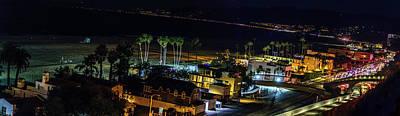 Palisades Park Night - Panorama Poster