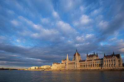 Poster featuring the photograph Parliament On The Danube by Davor Zerjav