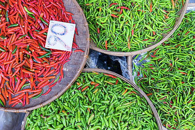 Peppers At The Market Poster