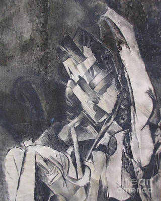 Poster featuring the drawing Picasso Study by Rosanne Licciardi