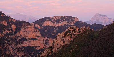 Poster featuring the photograph Pink Skies Above Pena Montanesa by Stephen Taylor