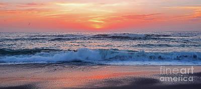 Pink Sunrise Panorama Poster